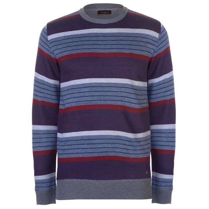 Pierre Cardin Striped Crew Knit Mens