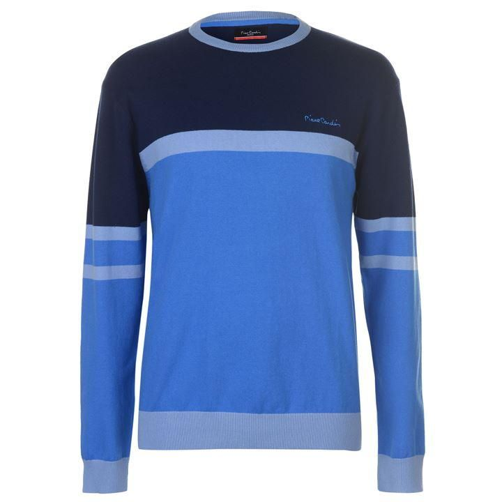 Pierre Cardin Colour Contrast Striped Crew Knit Mens