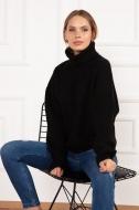 dámský pletený svetr černý 6085