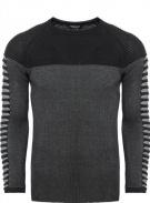 pánský černý svetr ke krku 7645