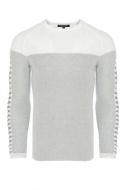 pánský šedý svetr ke krku 7645