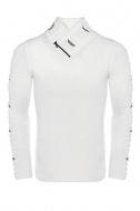 pánský svetr ke krku bílý 7748