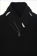 CARISMA pánský svetr ke krku černý 7748