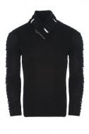 pánský svetr ke krku černý 7748