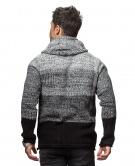CARISMA pánský svetr s kapucí černý 7396