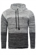 pánský svetr s kapucí černý 7396