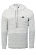 pánský svetr s kapucí šedý 7396