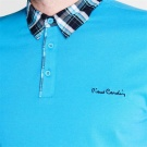 Pánské polotriko PIERRE CARDIN Short Sleeve Check Collar Polo Mens