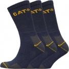 Pánské  ponožky  Caterpillar Three Pack Crew Socks | 6-11 , 11-14