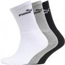 Puma Mens Three Pack Crew Socks | 39-42, 43-46